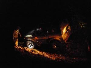 Bergung bei Nacht